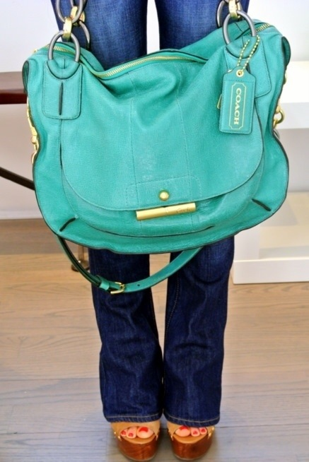 Coach Kristen Elevated Satchel - Aqua