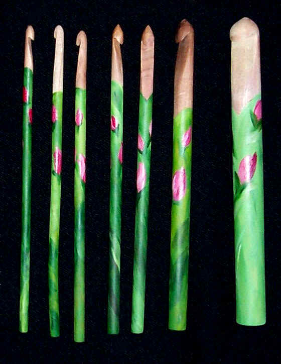 Crochet hooks Seacoast_Rosebud_Crochet_Hook_Set