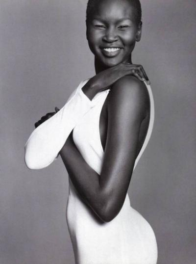 Alek Wek Black and White