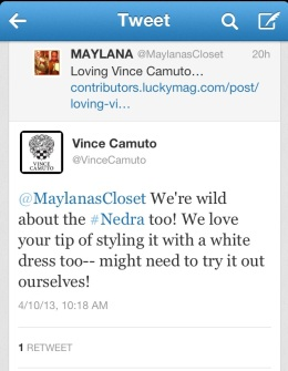 Vince Camuto Tweet