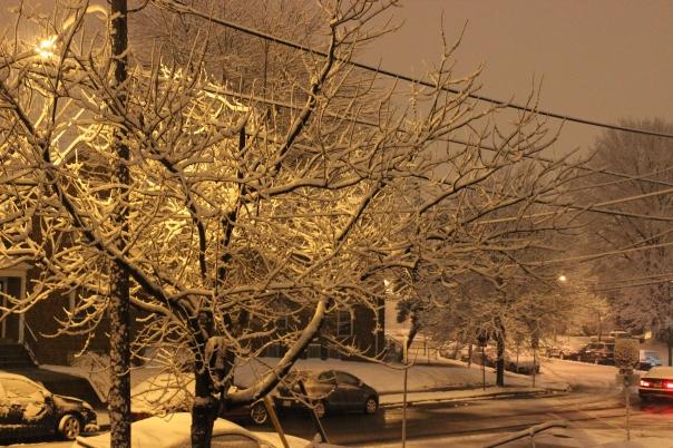 Nighttime, #snow, #snowy #night, Night