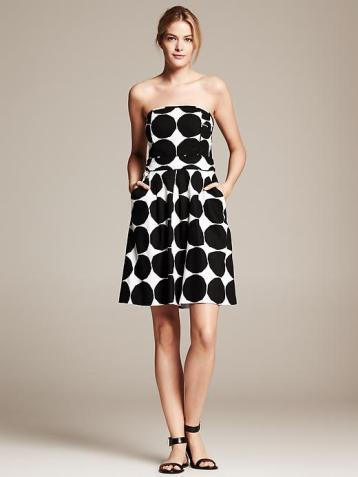 Banana Republic & Marimekko Polka Dot Dress #bananarepublic #shopping, banana republic