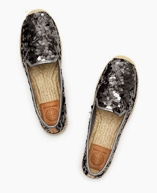 Tory Burch Espadrilles - Grey Sequins