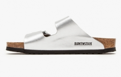Birkenstocks - Arizona Silver - Side View