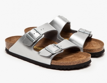 Birkenstocks - Arizona Silver