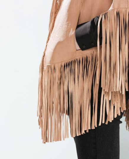 Zara Leather Poncho